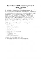 Stufe 8/9 Diff Physik/Chemie