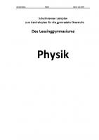 Lehrplan Physik