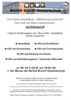 Workshop am 28.11.2018