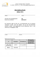 Abmeldeschein Abitur – ausfüllbar