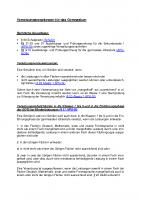 Versetzungsregelungen für das Gymnasium