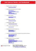 Linkliste-Berufs-und Studienwahl