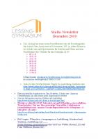 Stubo Newsletter Dezember 19