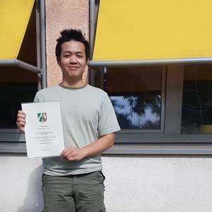 Erfolgreiche Teilnahme von Justin Phan aus unserer Q2